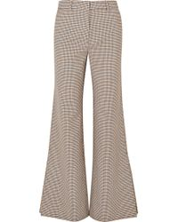Paul & Joe - Houndstooth Tweed Flared Trousers - Lyst