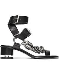Alexander Wang - Jada Chain-embellished Leather Sandals - Lyst