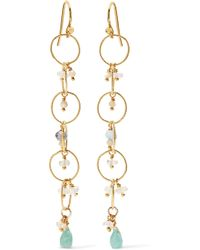 Chan Luu - Gold-plated Amazonite Earrings - Lyst