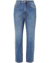 Ksubi - Chlo Wasted Cropped High-rise Straight-leg Jeans - Lyst