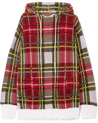 R13 - Distressed Tartan Cashmere Hooded Top - Lyst