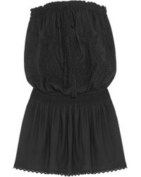 Melissa Odabash - Fruley Embroidered Voile Mini Dress - Lyst