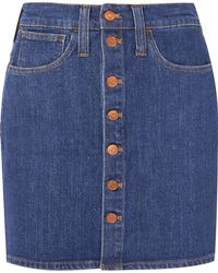 Madewell - Denim Mini Skirt - Lyst