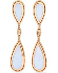 Fernando Jorge - Fluid 18-karat Rose Gold, Diamond And Chalcedony Earrings - Lyst