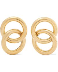 Laura Lombardi - Interlock Gold-tone Earrings - Lyst