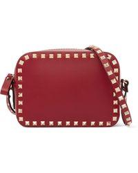 Valentino - Garavani The Rockstud Leather Shoulder Bag - Lyst