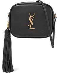 67cb1e5051 Saint Laurent - Monogram Blogger Mini Leather Crossbody Bag - Lyst
