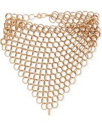 Saskia Diez - Gold-plated Bracelet Gold One Size - Lyst