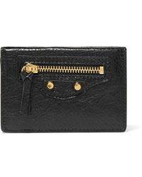 Balenciaga Classic City Mini Textured-leather Wallet