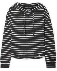 Eberjey - Hooded Striped Jersey Pyjama Top - Lyst