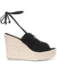Manebí - Rio De Janeiro Crocheted Espadrille Wedge Sandals - Lyst