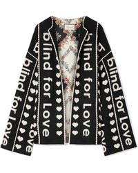Gucci - Oversized Wool And Cashmere-blend Jacquard Jacket - Lyst