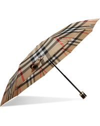 Burberry - Checked Shell Umbrella - Lyst