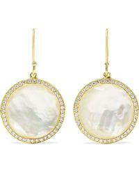 Ippolita - Lollipop 18-karat Gold, Mother-of-pearl And Diamond Earrings - Lyst