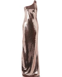 Tom Ford - One-shoulder Sequined Tulle Gown - Lyst