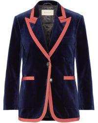 Gucci - Grosgrain-trimmed Velvet Blazer - Lyst