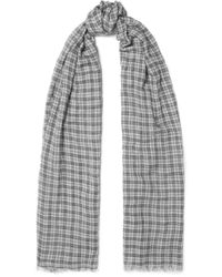 Isabel Marant - Woody Checked Wool Scarf - Lyst