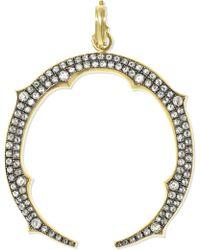 Sylva & Cie - 18-karat Gold Diamond Pendant Gold One Size - Lyst