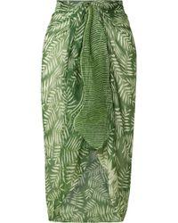 Cloe Cassandro - Printed Silk-crepon Pareo - Lyst