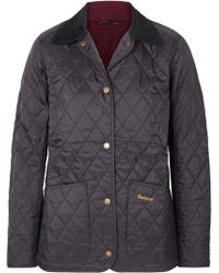 Barbour - Annandale Corduroy-trimmed Quilted Shell Jacket - Lyst