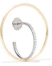 Charlotte Chesnais - Saturn 18-karat Gold Diamond Hoop Earring - Lyst