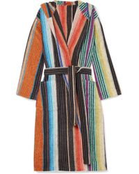 Missoni - Hooded Striped Cotton-terry Robe - Lyst