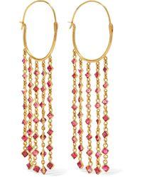 Pippa Small - 18-karat Gold Spinel Earrings - Lyst