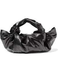 The Row | Ascot Small Python Tote | Lyst