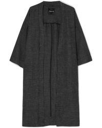 Madewell - Checked Linen-blend Kimono - Lyst