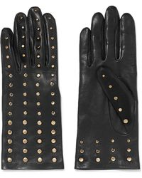 Agnelle - Studded Leather Gloves - Lyst