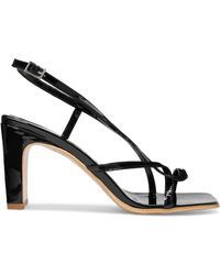 BY FAR - Carrie Patent-leather Slingback Sandals - Lyst