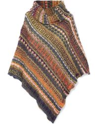 Missoni - Draped Fair Isle Knitted Poncho - Lyst