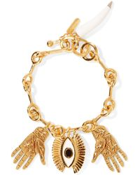 Chloé - Sloan Gold-tone, Enamel And Resin Bracelet - Lyst