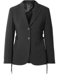 Theory - Lace-up Crepe Blazer - Lyst