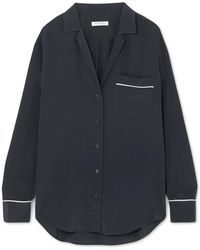 Equipment | Keira Piped Washed-silk Shirt | Lyst
