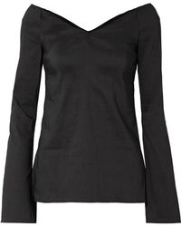 Beaufille - Bia Off-the-shoulder Linen-blend Blouse - Lyst