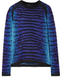 Proenza Schouler - Pointelle-trimmed Intarsia Silk Sweater - Lyst
