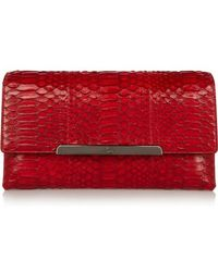 Christian Louboutin - Rougissime Python And Leather Clutch - Lyst