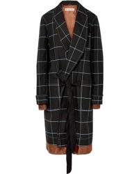Marni - Satin-trimmed Checked Twill Coat - Lyst