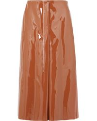 Marni - Faux Patent-leather Midi Skirt - Lyst