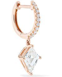 Anita Ko - Huggie 18-karat Rose Gold Diamond Earring Rose Gold One Size - Lyst