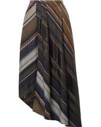 Apiece Apart - Turkanna Wrap-effect Striped Voile Midi Skirt - Lyst