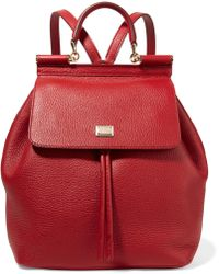 Dolce & Gabbana - Sicily Medium Textured-leather Backpack - Lyst