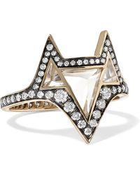 Noor Fares - Hava 18-karat Gold, Topaz And Diamond Ring - Lyst
