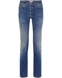 RE/DONE - + Levi's Distressed High-rise Straight-leg Jeans - Lyst