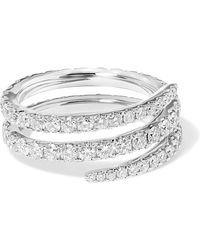 Anita Ko - Coil 18-karat White Gold Diamond Ring - Lyst