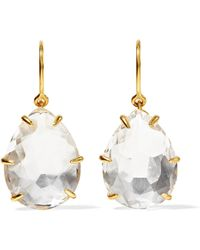 Larkspur & Hawk - Caterina Gold-dipped Quartz Earrings - Lyst