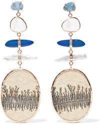 Melissa Joy Manning - 14-karat Gold Multi-stone Earrings - Lyst