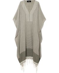 Su Paris - Jimba Fringed Striped Cotton-voile Kaftan - Lyst