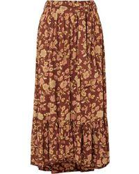 Faithfull The Brand - Sabila Ruffled Floral-print Poplin Maxi Skirt - Lyst